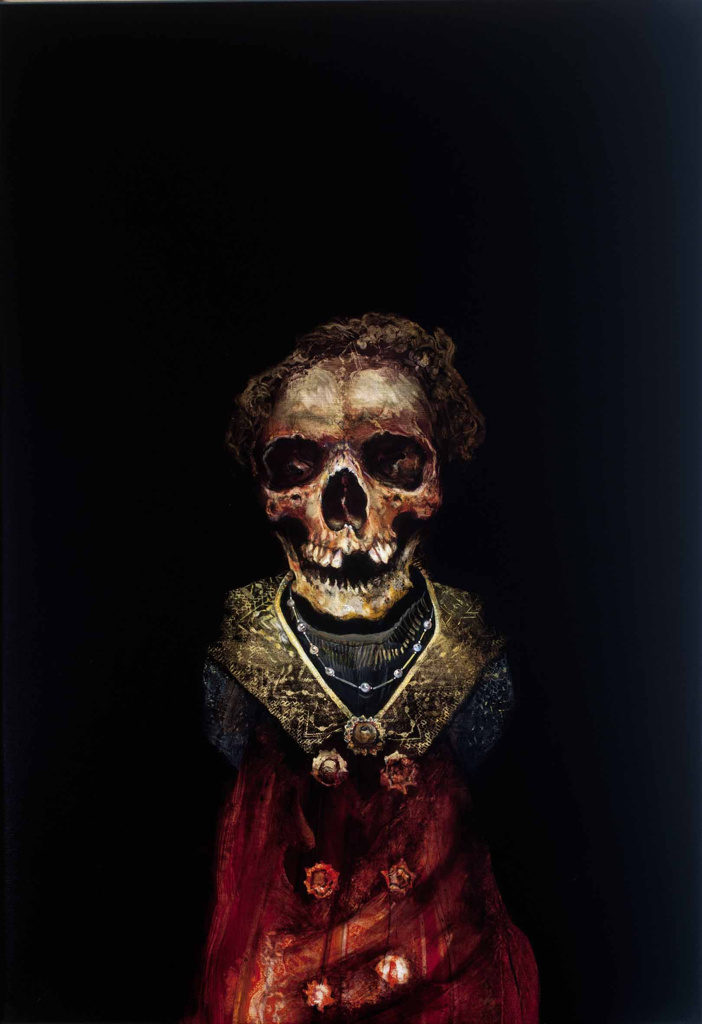 skeleton oil painting on canvas