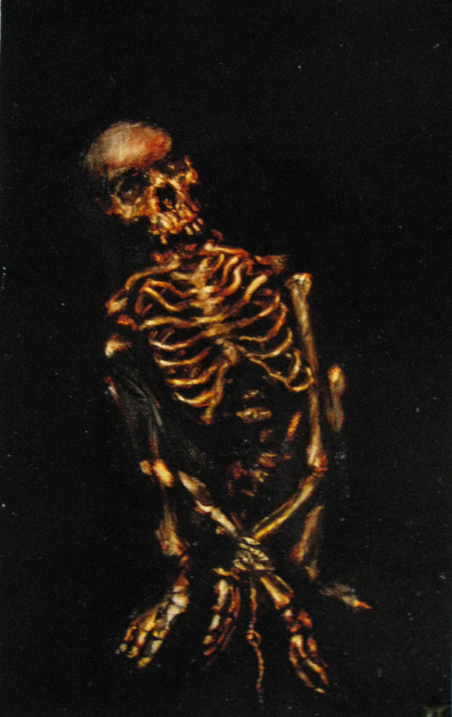 Skeleton oil painting: Missing Person
