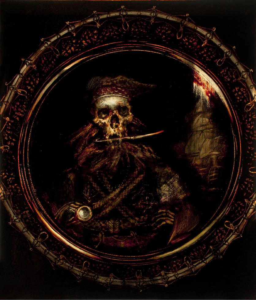 Oil on canvas from the collection Edward Teach (Blackbeard)