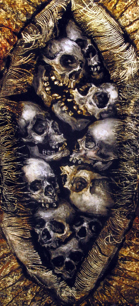 oil on canvas From the collection Vaginal Skulls Gaping Wound