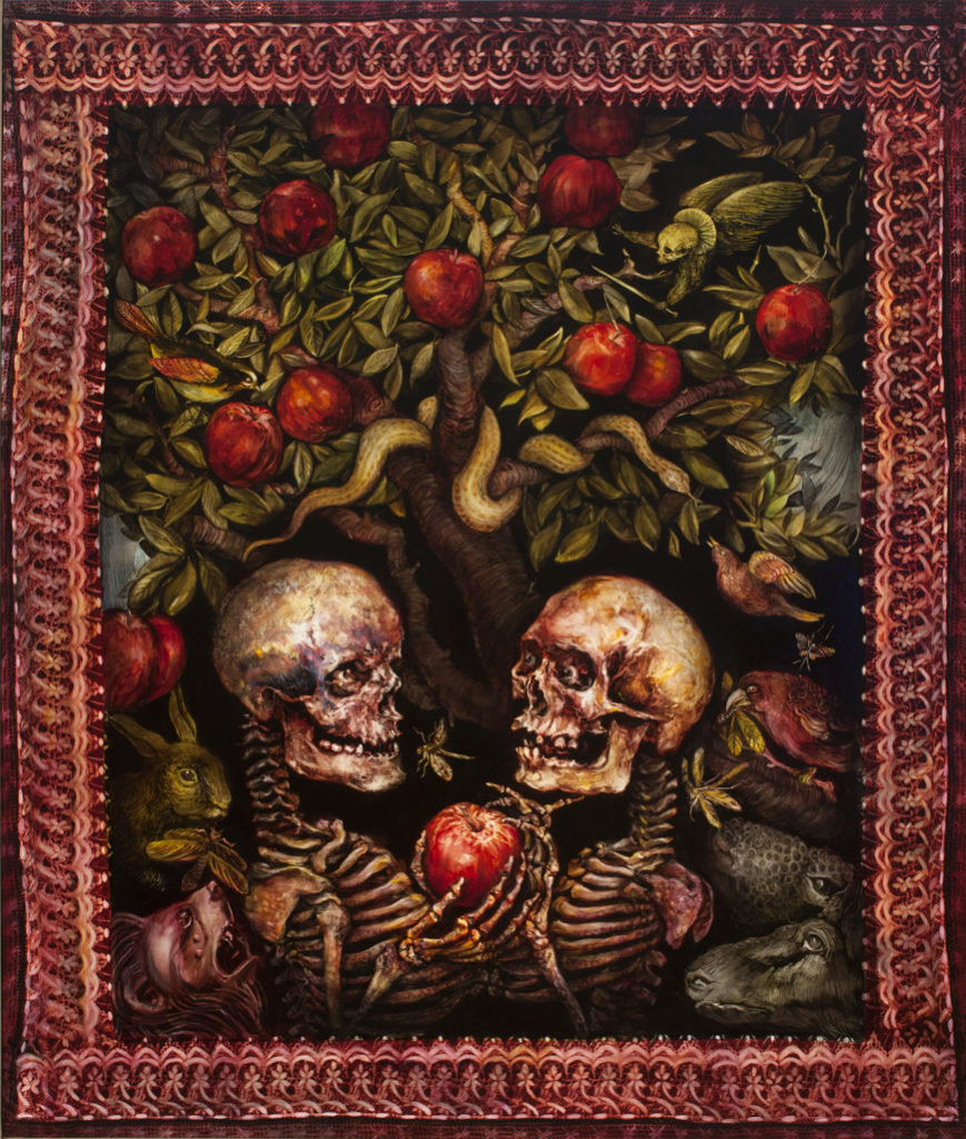 skeleton oil painting on canvas from the collection Seven Deadly Sins