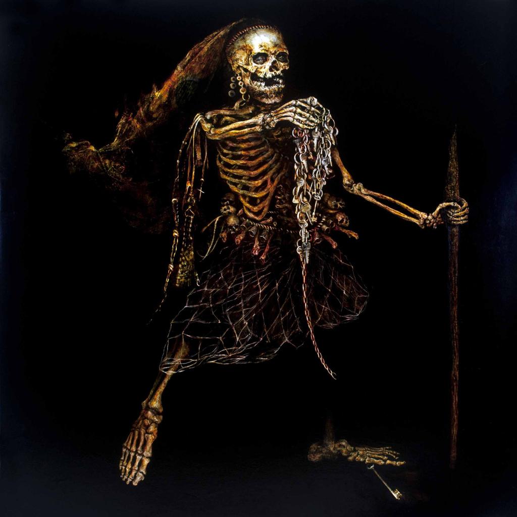 skeleton painting 2016 Oil on Linen