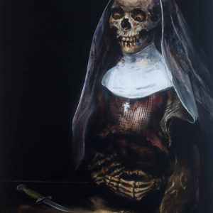 Oil on canvas from the collection The Bleeding Nun 2015
