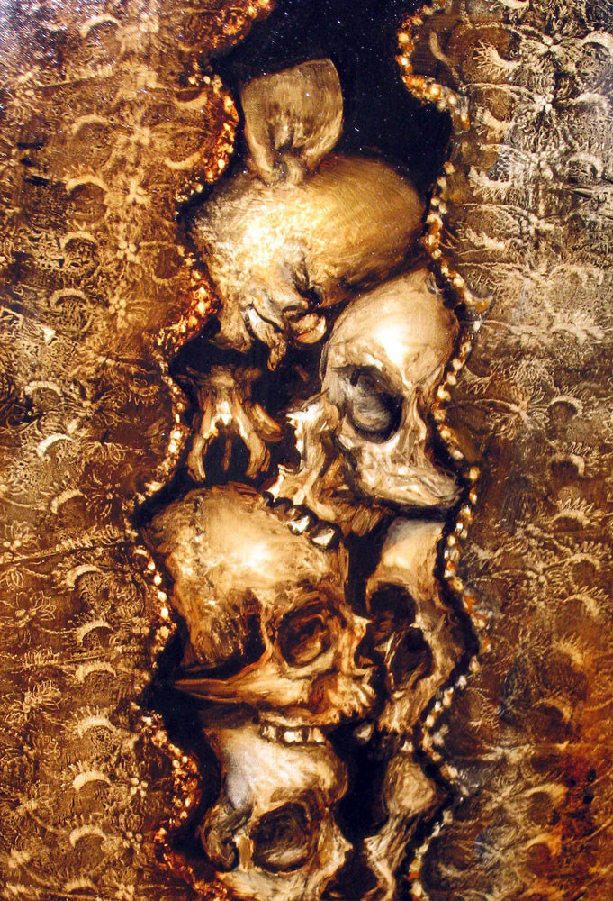 oil on canvas From the collection Vaginal Skulls The Pigs Asleep