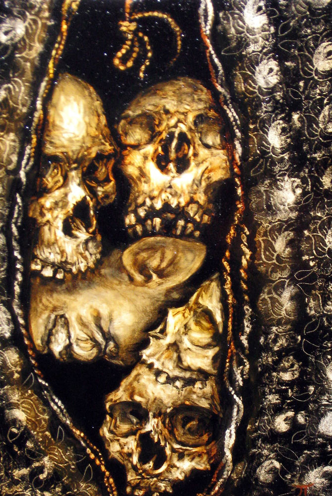 oil on canvas From the collection Vaginal Skulls Morbid Fascination