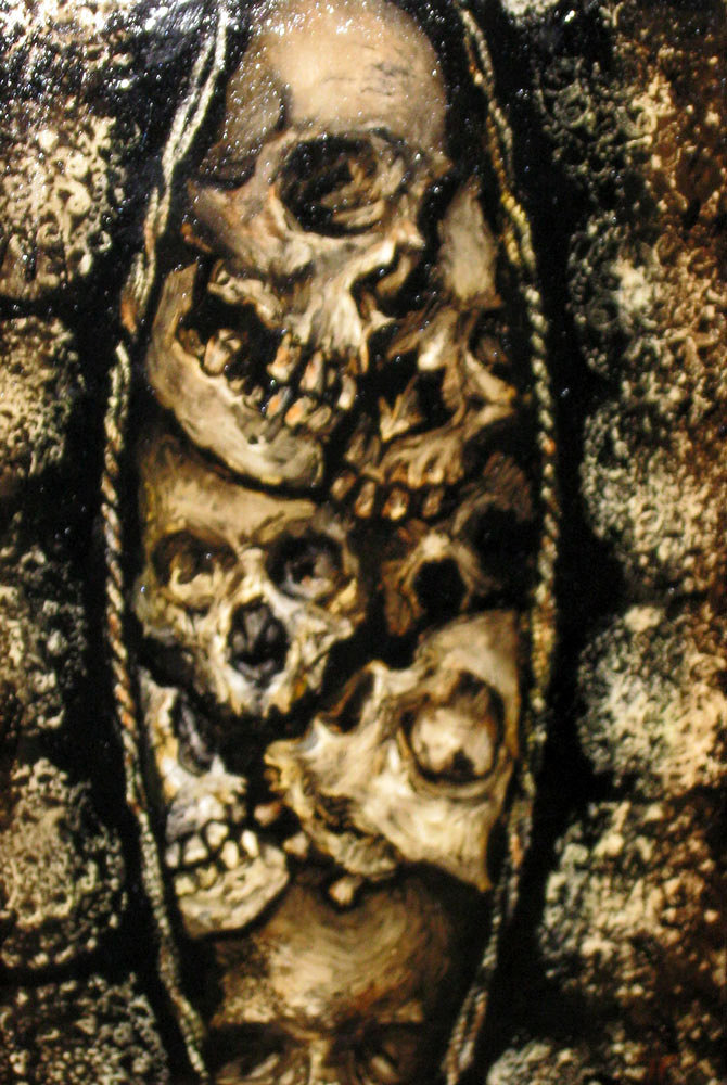 oil on canvas From the collection Vaginal Skulls Suckling Devils