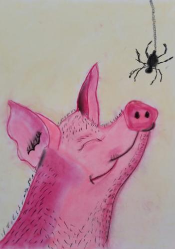 <span>Charlotte Pastel on Paper Age 7 </span><br>(80xmx55cm)