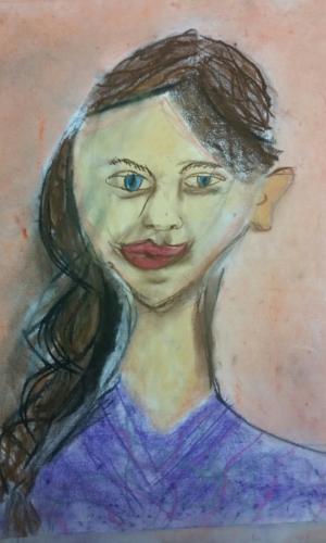 <span>Portrait Pastel _ Wash Age 11 </span><br>(80xmx55cm)
